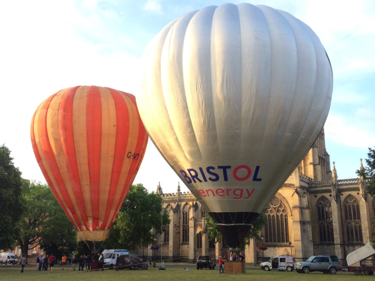 Bristol Belle and Bristol Energy solar balolon