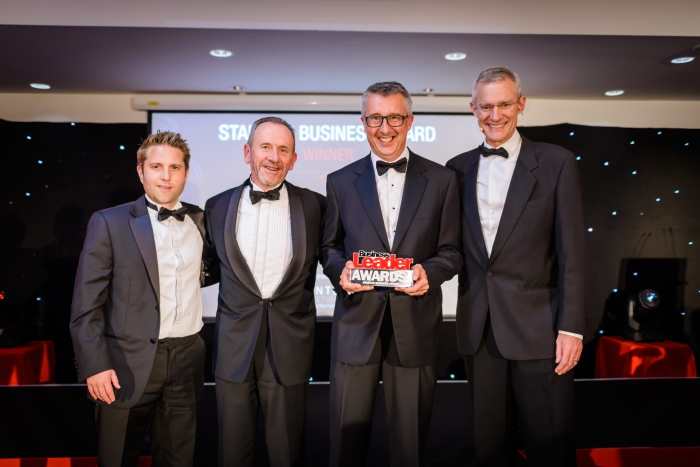 Bristol Energy collecting Start Up of the Year Award at the Businsess Leader Awards 2017