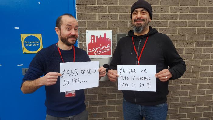 Caring In Bristol fundraising target