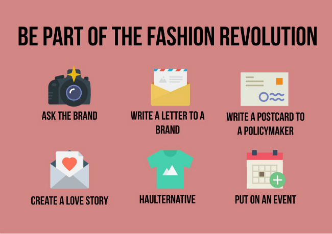 Ways to get involved in Fashion Revolution