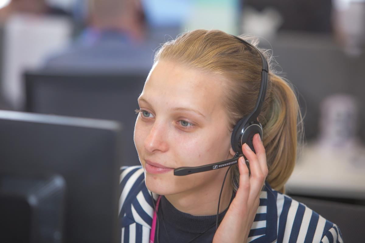 Customer care advisor helping when a customer has died
