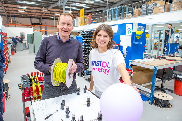 Tim from PB Designs with Bristol Energy in factory